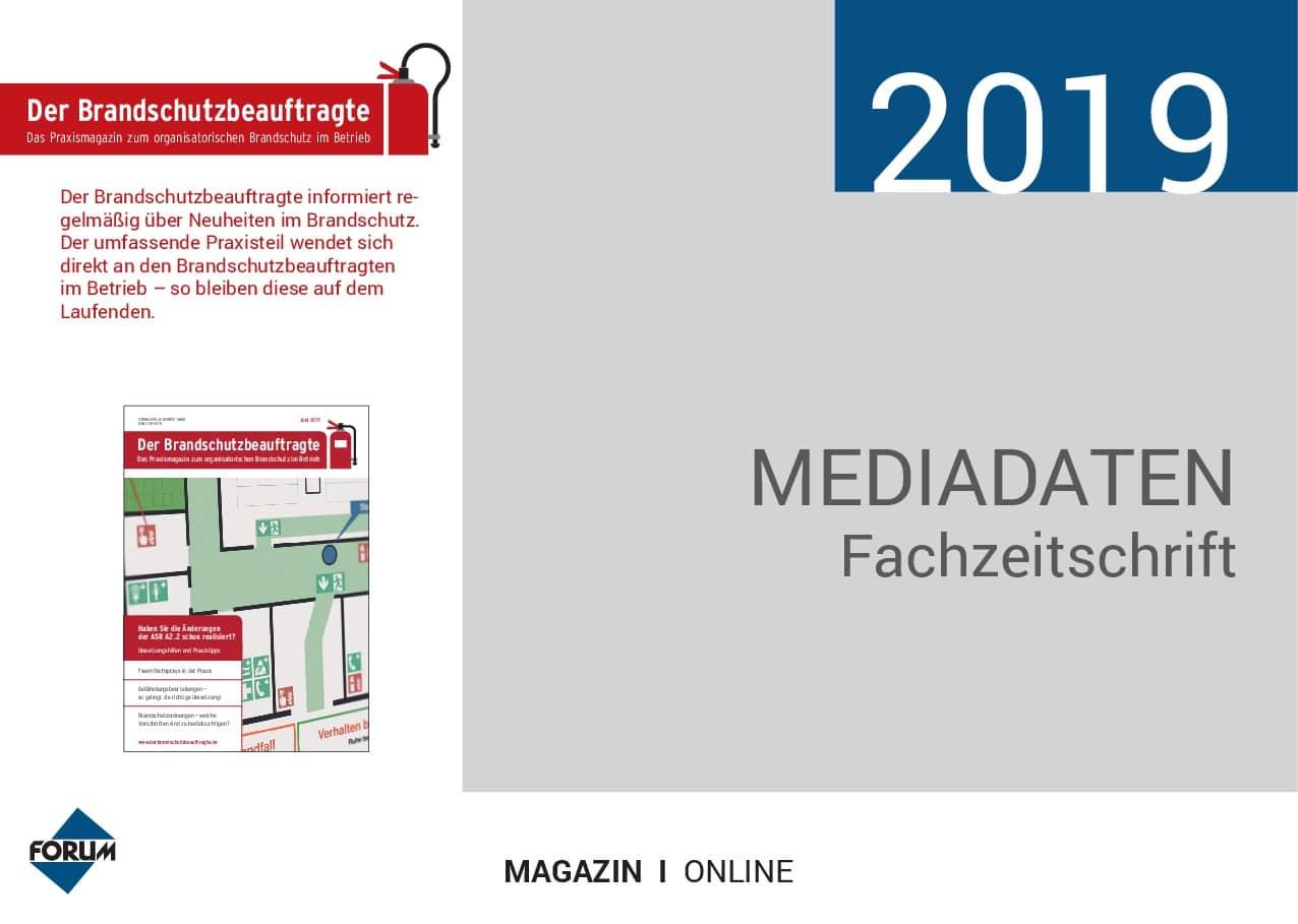 Mediadaten Der Brandschutzbeauftragte 2019