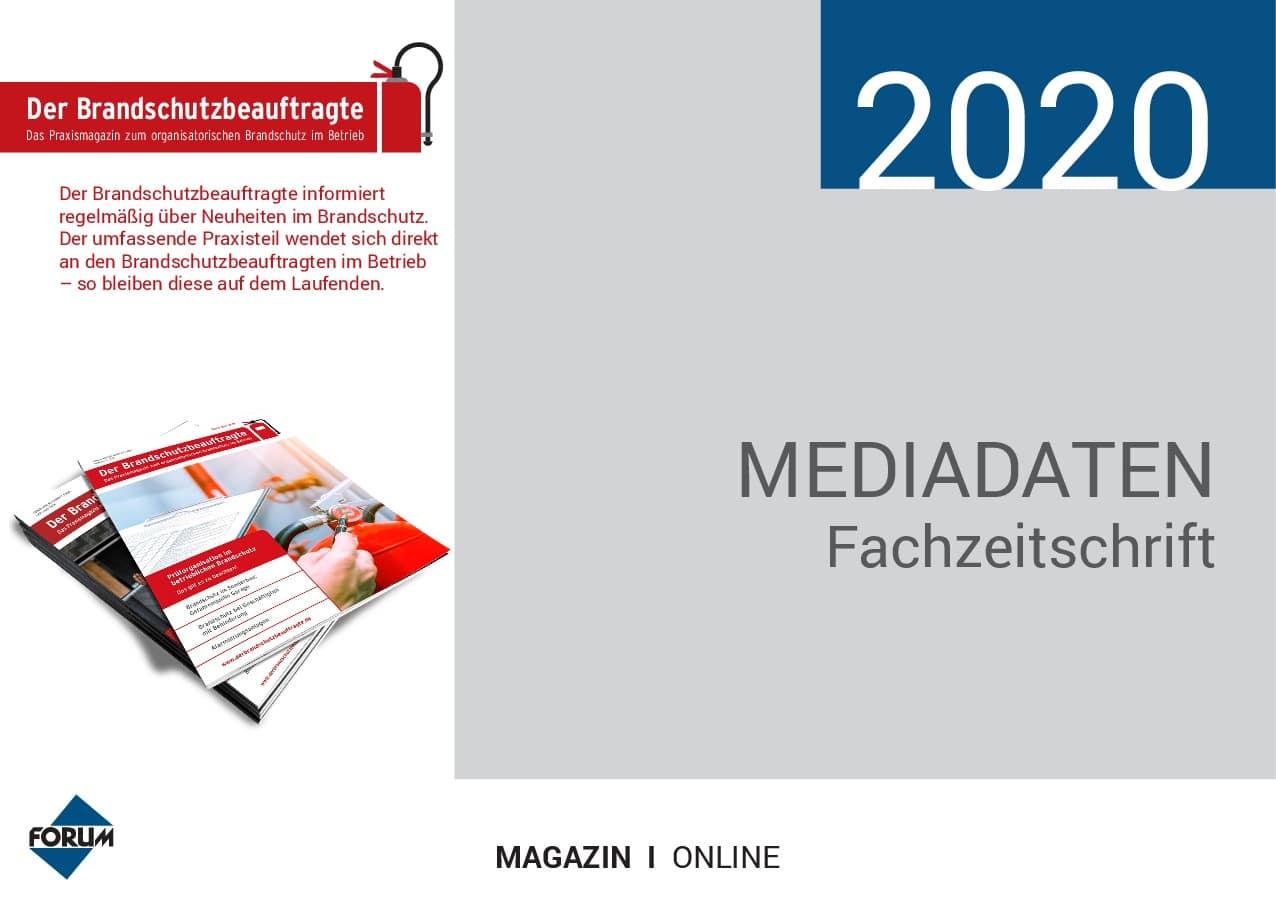 Mediadaten Der Brandschutzbeauftragte 2020