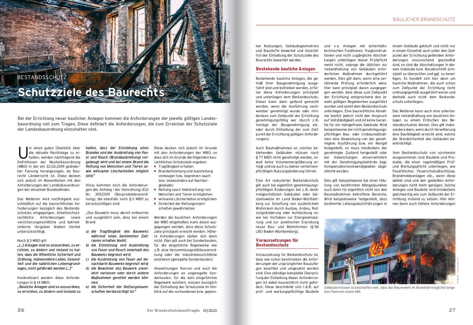 Heftseite Baulicher Brandschutz