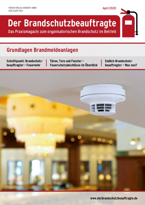 Ausgabe April 2020<br>Brandmeldeanlagen
